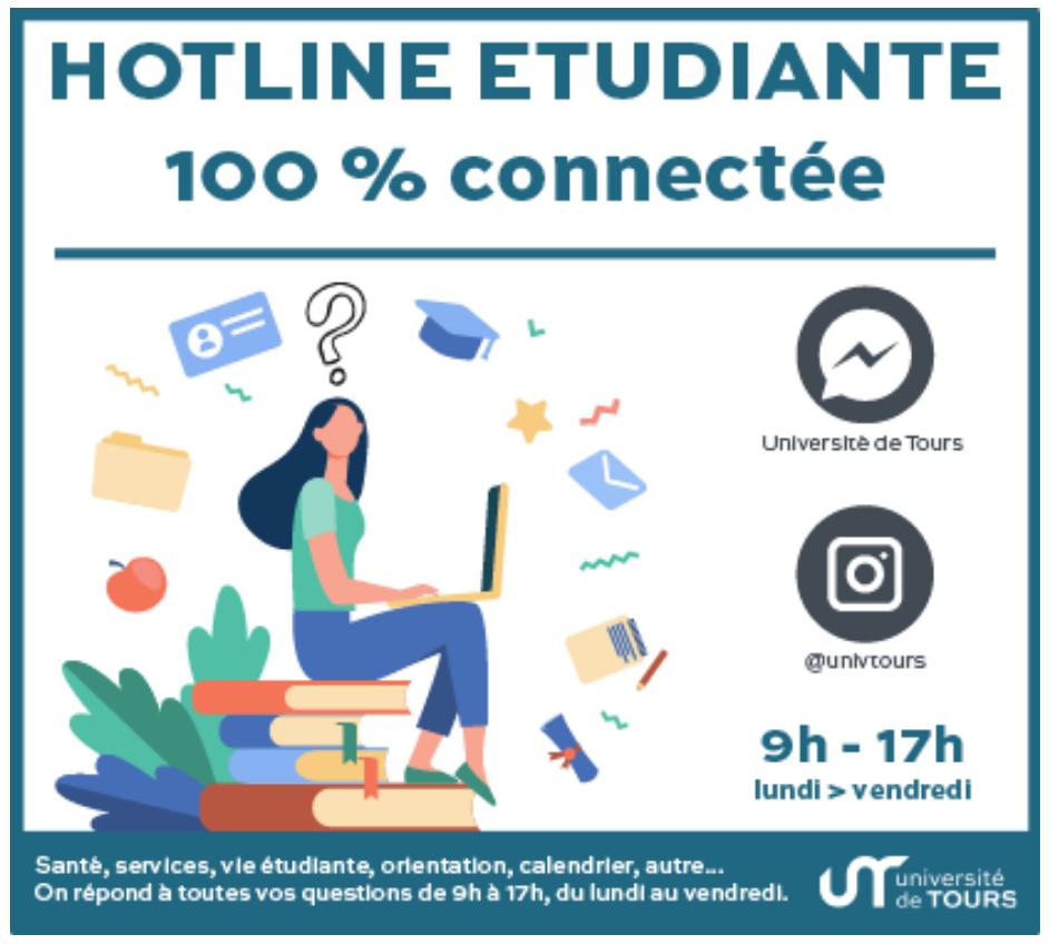 Hotline étudiante 100% connectée