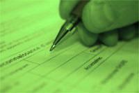 crayon papier vert